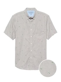 Slim-Fit Luxe Poplin Print Shirt