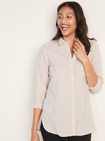Classic Flannel Pocket Tunic for Women