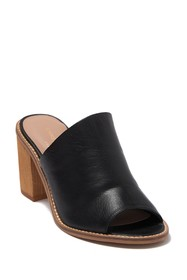 Chinese Laundry Carlin Leather Block Heel Mule