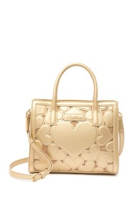 LOVE Moschino Borsa Embossed Heart Mini Handle Han