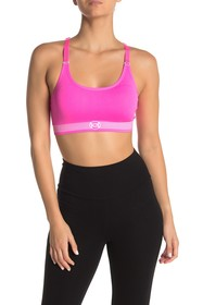 bebe Geo Stripe Cami Sports Bra
