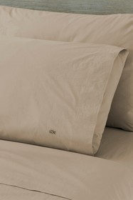 Lacoste Solid Washed Percale Cal King Sheet Set