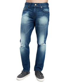 True Religion Men's Geno Distressed Straight-Leg J