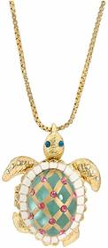 Betsey Johnson Sea Excursion Long Necklace with Tu