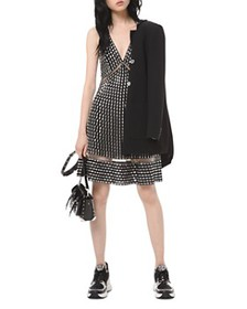 MICHAEL Michael Kors - Embroidered Studded A-Line