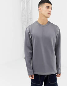 Noak relaxed fit sweatshirt in polytricot with dra