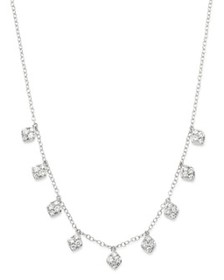Bloomingdale's - Diamond 4-Stone Droplet Necklace