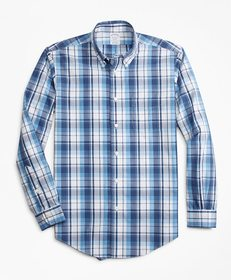 Brooks Brothers Non-Iron Regent Fit Plaid Sport Sh