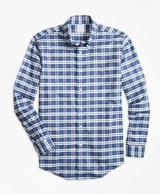 Brooks Brothers Non-Iron Regent Fit Check Sport Sh