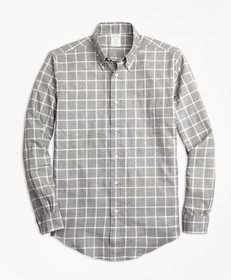 Brooks Brothers Milano Fit Small Windowpane Flanne