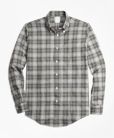 Brooks Brothers Milano Fit Plaid Flannel Sport Shi