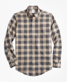Brooks Brothers Regent Fit Multi-Plaid Flannel Spo