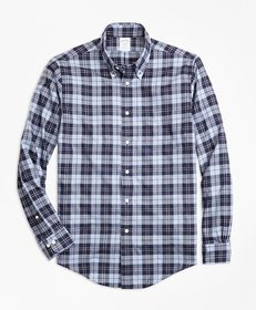 Brooks Brothers Regent Fit Plaid Flannel Sport Shi