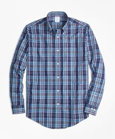 Brooks Brothers Non-Iron Regent Fit Multi-Plaid Sp