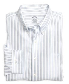 Brooks Brothers Non-Iron Slim Fit Framed Stripe Sp