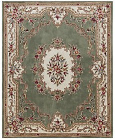 KM Home Dynasty Aubusson Area Rug Collection, Crea