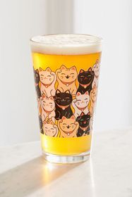 Fortune Cat Pint Glass
