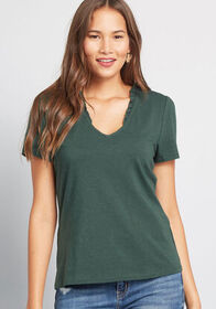 ModCloth ModCloth Little Somethin' Tee Green