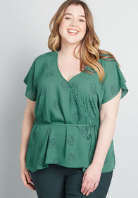 ModCloth ModCloth Graceful Greeting Surplice Top G