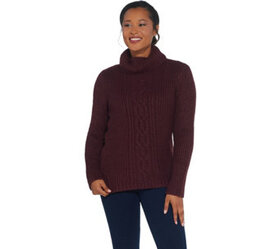 G.I.L.I. Cable Knit Turtle Neck Sweater - A311406