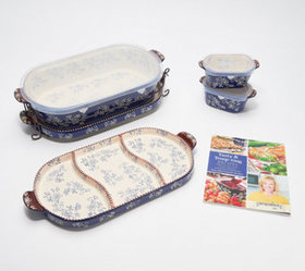 Temp-tations Floral Lace 6-Piece Baker Set with Co