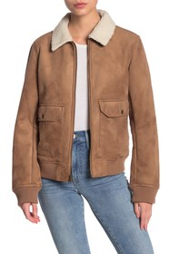 Levi's Faux Shearling Faux Suede Bomber Jacket