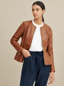 Designer Brand Peplum Faux-Leather Jacket