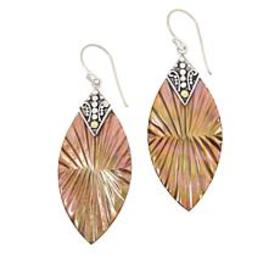 Bali Designs 2-Tone Carved Mother-of-Pearl Dangle