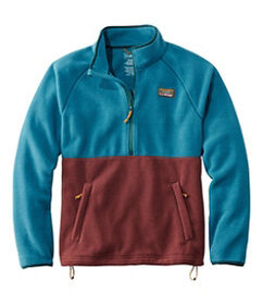 LL Bean Mountain Classic Colorblock Fleece Pullove