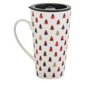 Godinger Holiday Tree Mug with Lid