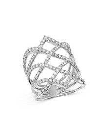 Bloomingdale's - Diamond Statement Ring in 14K Whi