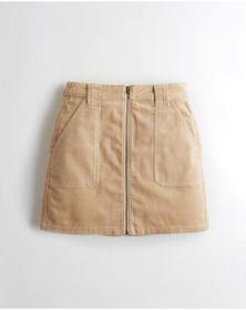 Hollister Ultra High-Rise Corduroy Skirt, LIGHT BR