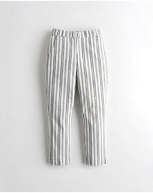 Hollister Stretch Taper Pants, GREY STRIPE