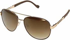 Jessica Simpson Mirror Chain Temple Aviator Metal