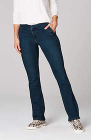 York Snap-Pocket Boot-Cut Jeans