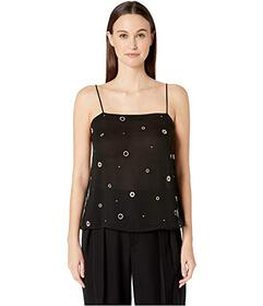 Vince Metallic Embroidery Cami