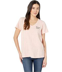 Mod-o-doc All Things Possible Embroidered V-Neck T