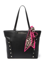 Betsey Johnson Heart Stud Shopper
