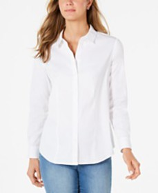 Charter Club Classic Button-Front Shirt, Created f