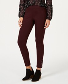 Style & Co Snap-Hem Ponté-Knit Leggings, Created f
