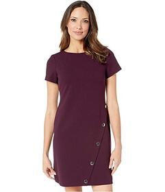 Tommy Hilfiger Asymmetrical Snap Hem Dress