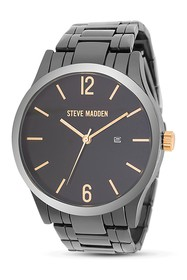 Steve Madden Men's Black Analog Link Watch
