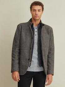 Kenneth Cole Textured Blazer with Inset