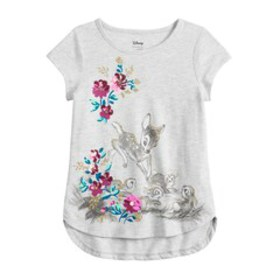 Disney's Bambi Girls 4-12 Glittery Graphic Top by