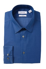 Calvin Klein Slim Fit Solid Dress Shirt