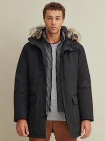Designer Brand Hooded Parka Coat