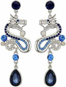GUESS Dragon Drop Earrings with Stone Detail