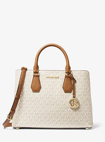 Michael Kors Camille Large Logo and Leather Satche