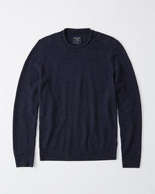 Rollneck Crew Sweater, MARLED GREY
