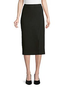Anne Klein Pull-On Midi-Length Skirt ANNE BLACK
